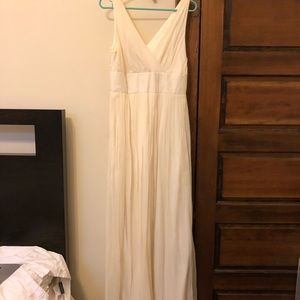 J. Crew off white gown